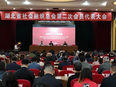 湖北省社会组织总会第二次会员代表大会在汉召开