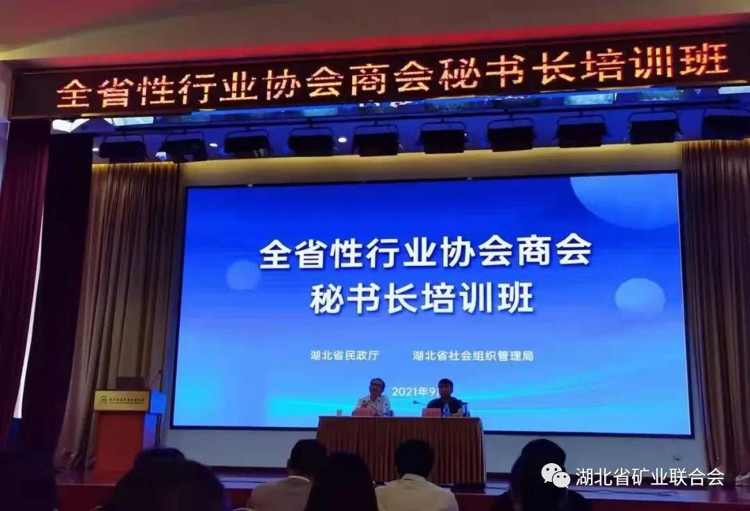 湖北省民政厅举办全省性行业协会商会秘书长培训班